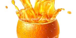 عکس با کیفیت پوست پرتقال حاوی آب پرتقال طبیعی و ارگانیک
