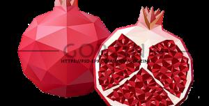 پکیج 6 تایی وکتور انار و هندوانه ویژه شب یلدا