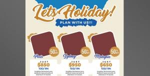 طرح آماده لایه باز پوستر یا تراکت با موضوع تعطیلات روزهای تعطیل هفته و ماه تفریحات اخر هفته