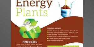 طرح آماده لایه باز پوستر یا تراکت با موضوع پرورش و رشد و نمو گیاهان ایده پردازی پیشرفت و تعالی نور و انرژی