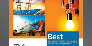 طرح آماده لایه باز پوستر یا تراکت با موضوع ایده پردازی لوازم الکتریکی تولید انرژی الکتریکی خرید لامپ و روشنایی