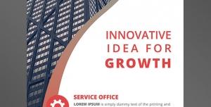 طرح آماده لایه باز استند دو در نود یا 90*2 با موضوع رشد و پیشرفت ویژه شرکت تجاری بازرگانی مشاوره ساختمان سازی مهندسی ساختمان