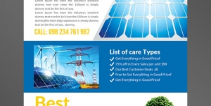 طرح آماده لایه باز پوستر یا تراکت با موضوع انرژی خورشیدی تولید انرژی الکتریکی ویژه الکتریکی ها و لوازم برقی