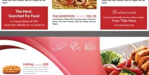طرح آماده لایه باز بروشور سه لت ویژه رستوران فست فود اغذیه پیتزا فروشی کبابی ساندویچ فروشی