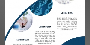 طرح آماده لایه باز پوستر یا تراکت با موضوع آزمایشگاه آزمایش خون DNA انواع آزمایشها بیمارستان پزشکی