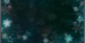 قاب و فریم عکس یا متن لایه باز با زمینه سبز تیره و برگ های نورانی مناسب انواع عکس شخصی یا پیام های متنی و شعرهای ادبی