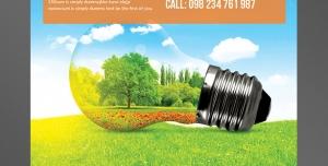 طرح آماده لایه باز پوستر یا تراکت با موضوع انرژی خورشیدی رشد و پرورش گیاهان سرسبزی و شادابی ویتامین دی ایده پردازی سلامتی جسم و روح