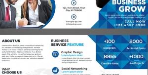 طرح آماده لایه باز بروشور سه لت ویژه شرکت های تجاری بازرگانی مشاوره کسب و کار