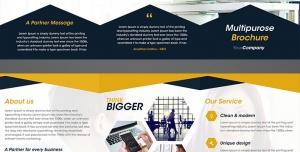 طرح آماده لایه باز بروشور سه لت ویژه شرکت های تجاری بازرگانی کسب و کار لوازم الکتریکی رویا پردازی