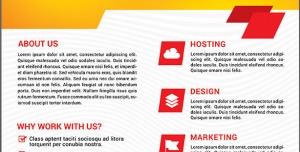 طرح آماده لایه باز پوستر یا تراکت با موضوع طراحی دیزاین بازاریابی میزبانی ویژه شرکت های تجاری بازرگانی کسب و کار اینترنتی
