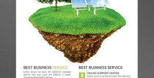 طرح آماده لایه باز پوستر یا تراکت با موضوع تولید انرژی خورشیدی الکتریسیته وبرق ویژه الکتریکی ها و سیم کش های برق