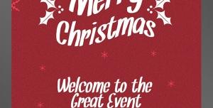 طرح آماده لایه باز پوستر یا تراکت با موضوع جشن و سال نو میلادی مهمانی ها و دورهمی سال جدید