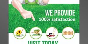 طرح آماده لایه باز پوستر یا تراکت با موضوع کشاورزی کاشت گل و گیاه فروش محصولات کشاورزی فروش ابزار الات کشاورزی ماشین الات و تراکتور فروش بذر