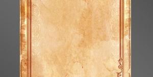 قاب و فریم عکس لایه باز قاب عکس یا قاب متن ساده با حاشیه ساده قهوه ای رنگ