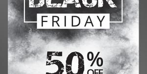 طرح آماده لایه باز پوستر یا تراکت با موضوع جمعه سیاه با تخفیفات ویژه و درصد بالا فروشگاه و مراکز خرید و نمایشگاه های خرید