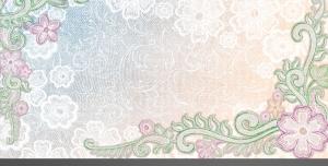 قاب و فریم عکس لایه باز زیبا با حاشیه گل های صورتی و زمینه ابر و باد