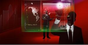 طرح لایه باز نمادین از مدیریت بازار یا بورس جهانی یا بازرگانی بین المللی توسط مدیر شرکت تجاری