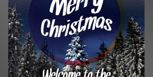 طرح آماده لایه باز پوستر یا تراکت با موضوع تبریک کریسمس ویژه جشن ها دور همی ها جشن کریسمس