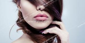 عکس با کیفیت بانویی با موهای قهوه ای و های لایت مورد استفاده سالن های زیبایی بانوان