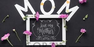 پوستر و طرح آماده لایه باز تبریک روز مادر
