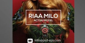 طرح آماده لایه باز بروشورتک لت پالتویی ویژه شرکت های تجاری بازرگانی آرایشی زیبایی میکاپ مدلینگ