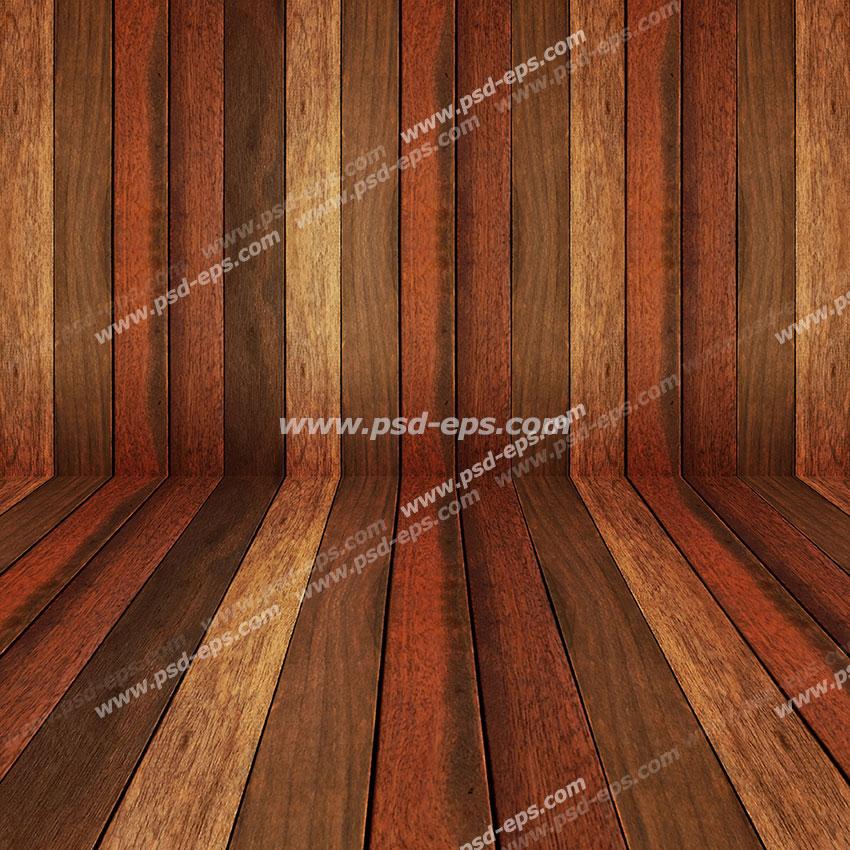 طرح دیوارپوش 3D یا سه بعدی یا پنل دکوراتیو یا کفپوش با طرح پارکت چوبی با طیف رنگ کرمی تا قهوه ای تیره