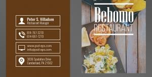 طرح آماده لایه باز کارت ویزیت دورو ویژه ی شرکت های تجاری رستوران فست فود اغذیه آشپزخانه