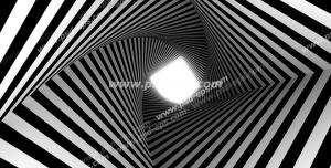 عکس با کیفیت دیوارپوش سه بعدی یا پس زمینه رندر سه بعدی با طرح مدرن تونلی لوزی مارپیچی با خطوط راه راه سیاه و سفید
