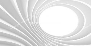 عکس با کیفیت دیوارپوش سه بعدی یا پس زمینه رندر سه بعدی با طرح تونلی از نمای بالا با شیارهای برجسته