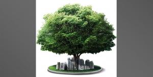 لایه باز استند روز درخت کاری گرامی باد یا بنر استند لایه باز روز درختکاری