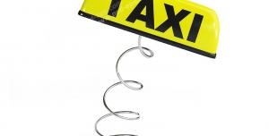 عکس با کیفیت نماد یا علامت کابین تاکسی تلفنی یا تاکسی شهری با فنر در زیر آن