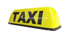 عکس با کیفیت نماد یا علامت تاکسی آنلاین یا تاکسی شهری زرد رنگ با متن TAXI