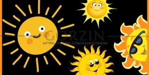 چهار عدد وکتور خورشید دوربری شده