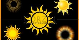 5 عدد وکتور خورشید دوربری شده