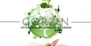 وکتور طرح مفهومی دوربری شده محافظت از زمین و محیط زیست