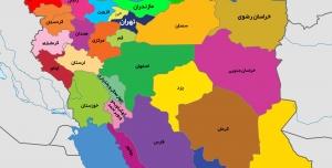 وکتور نقشه ایران لایه باز