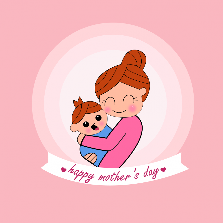 وکتور عشق مادرانه