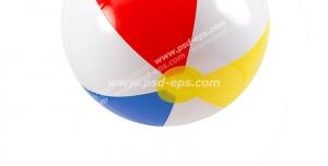 عکس با کیفیت توپ بادی شش تکه رنگارنگ برای بازی کودکان