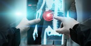عکس با کیفیت تبلیغاتی تصویر داخل بدن انسان با نمایشگر پیشرفته