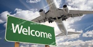 عکس با کیفیت تبلیغات فرود هواپیما