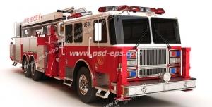 عکس با کیفیت تبلیغات ماشین آتش نشانی