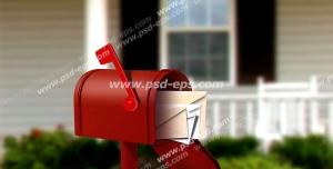 عکس با کیفیت تبلیغات نامه در صندوق پست