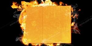 عکس با کیفیت تبلیغاتی آتش گرفتن کارتون