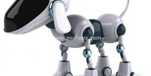 عکس با کیفیت تبلیغاتی سگ ربات