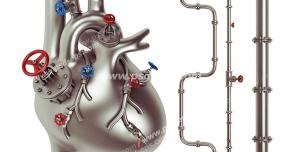 عکس با کیفیت تبلیغاتی قلب سه بعدی فلزی لوله کشی شده