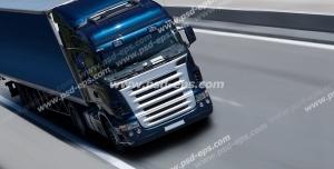 عکس با کیفیت تبلیغاتی خودرو سنگین در جاده