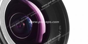 عکس با کیفیت نمای نزدیک از لنز دوربین عکاسی حرفه ای