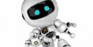 عکس با کیفیت تبلیغاتی ربات در حال دویدن