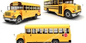 عکس با کیفیت تبلیغات سه اتوبوس زرد