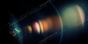 عکس با کیفیت نمای نزدیک از نور خارج شده از لنز دوربین عکاسی حرفه ای